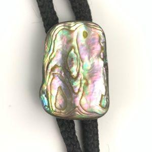 Vintage bolo tie - sea shell
